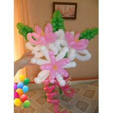 Лилии из воздушных шариков