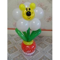 Цветочек с мордочкой из шариков