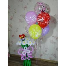 Цветы Ромашки из шариков