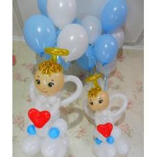 Ангелочки из шаров
