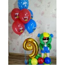 Бравл Старс из воздушных шариков