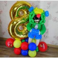 Бравл Старс Леон из шариков