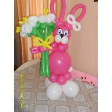 Букет из шаров Розовый Заяц