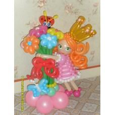 Девочка из шаров с букетом