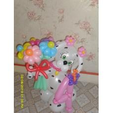 Фигура Собачки из воздушных шаров