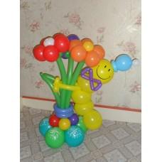 Гусеница из воздушных шариков