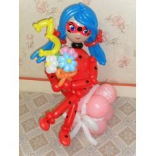 Игрушка Леди Баг из шаров