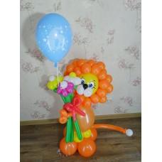 Игрушка Львенок из шариков