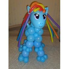Игрушка Пони Радуга Деш из шариков