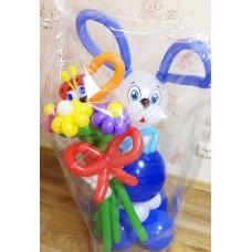 Игрушка Зайчишка из шаров