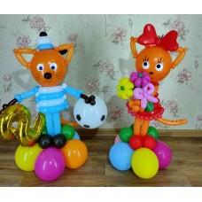 Карамелька и Коржик Три кота из шаров