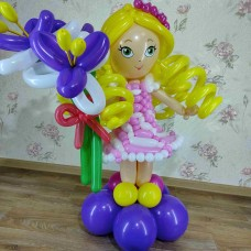 Куколка из шариков девочке