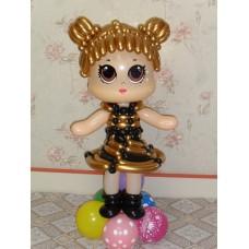 Лол из шаров Золотая