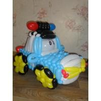Машина из шаров Полицейская