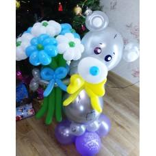 Мишка Тедди из шариков Сhrome