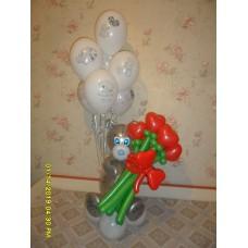 Мишка Тедди из шаров