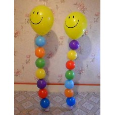 Танцующий Смайл из шаров
