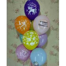 Букет гелиевых шаров Доченьке