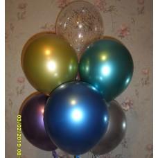 Букет гелиевых шаров Хром