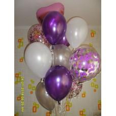 Фиолетовый фонтан на день рождения.