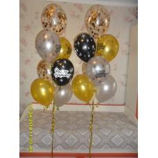 Фонтаны гелиевых шаров Happy Birthday