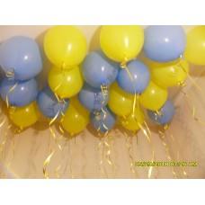 Гелієві кульки Жовто Блакитні