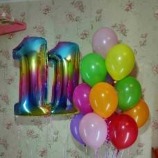 Гелиевые шарики 11 лет