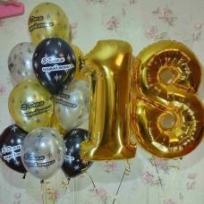 Гелиевые шарики 18 лет
