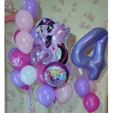 Гелиевые шарики 4 годика