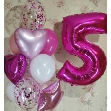 Гелиевые шарики 5 годиков
