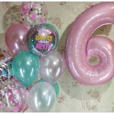 Гелиевые шарики 6 годиков