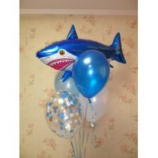Гелиевые шарики Акула
