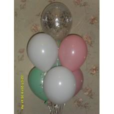 Гелиевые шарики бирюзово пудровый