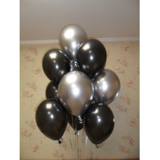 Гелиевые шарики Черное Серебро