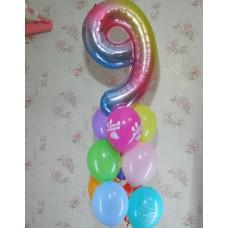 Гелиевые шарики Девять лет