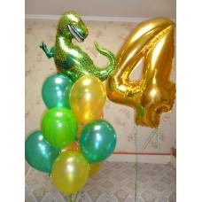 Гелиевые шарики Динозавры
