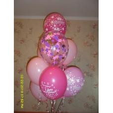 Гелиевые шарики для девочки