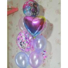 Гелиевые шарики Эльза и Анна