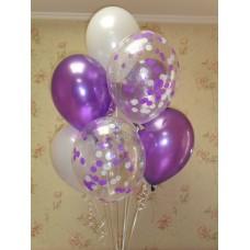 Гелиевые шарики Голографик фиолетовый