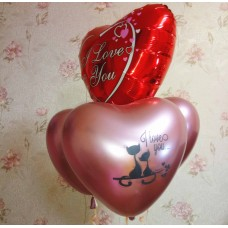 Гелиевые шарики I love you