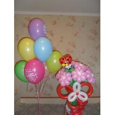 Гелиевые шарики и ромашки