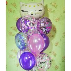 Гелиевые шарики Кошечка