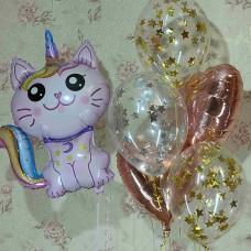 Гелиевые шарики Кошка