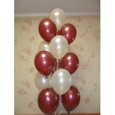 Гелиевые шарики Красно-Белые