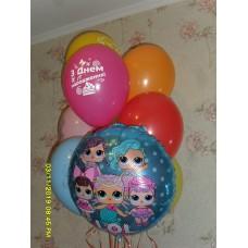 Гелиевые шарики кукла ЛОЛ