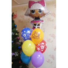 Гелиевые шарики Куколка Лол