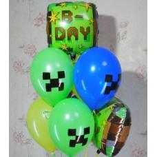 Гелиевые шарики Майнкрафт