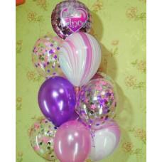 Гелиевые шарики маленькой принцессе