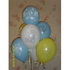 Гелиевые шарики мишка Тедди