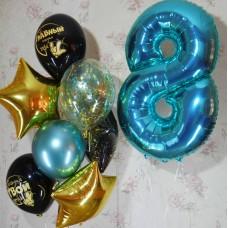 Гелиевые шарики на восемь годиков